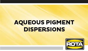 Aqueous Pigment Dispersions